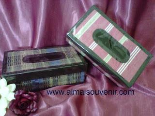souvenir pernikahan eksklusif, souvenir nikah, souvenir box tisu finil