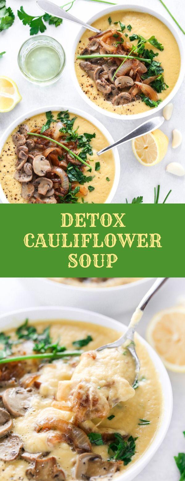 DETOX CAULIFLOWER SOUP