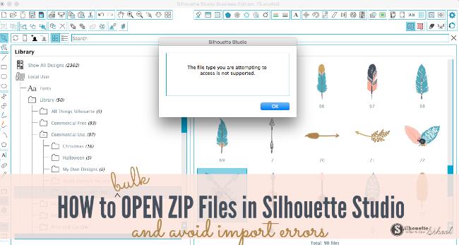 silhouette studio zip files, svg, silhouette cameo help