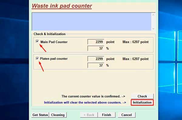 resetting printer epson xp-800