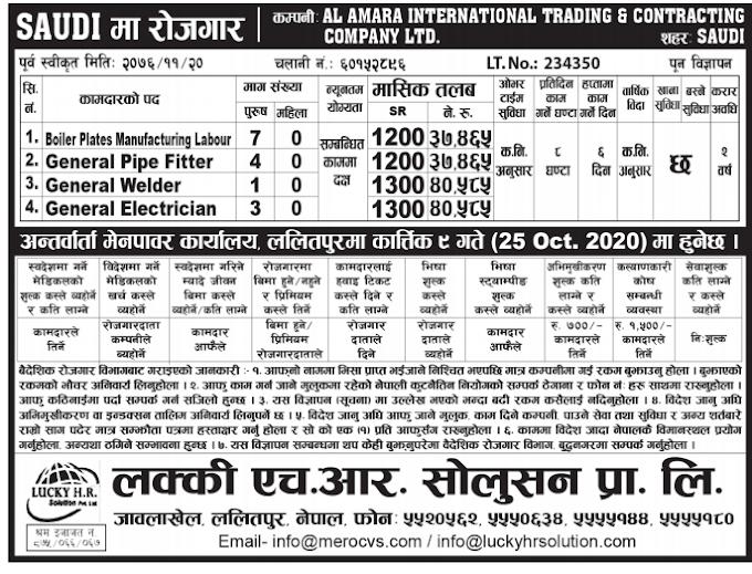 Jobs in Saudi Arabia for Nepali, Salary Rs 40,585