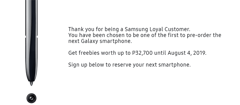 Pre-order the Galaxy Note10 in PH and get freebies up to worth PHP 32,700!