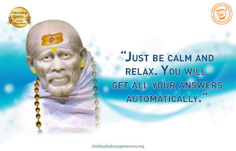 Be Calm - Sai Baba Samadhi Mandir Idol Image