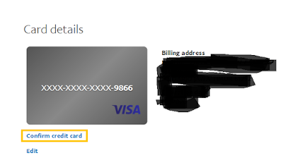confirm credit card