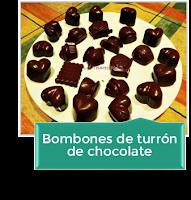 BOMBONES DE TURRÓN DE CHOCOLATE