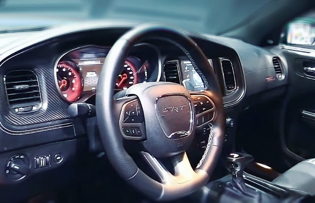 dodge charger srt hellcat widebody steering wheel and driver seat