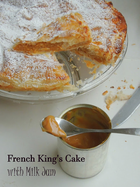 King's cake with milk jam, Galette des Rois à la confiture de lait