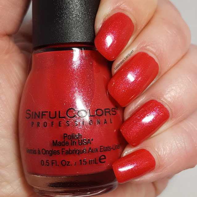 Strawberry red nail polish with magenta shimmer 2018 core line color addition exclusive for Walgreens