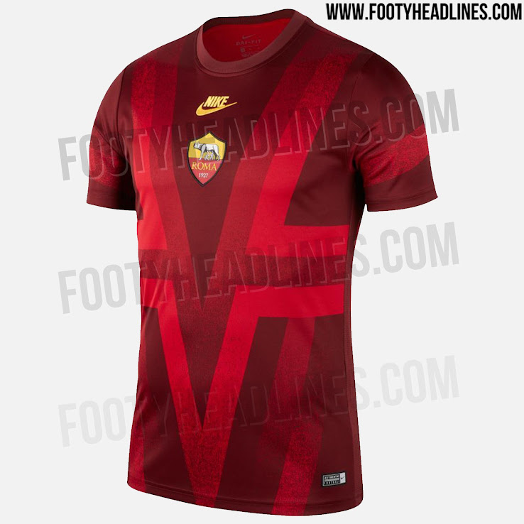 Nike AS Roma 19-20 Champions League Pre-Match Jersey Leaked ... 42d3a0511