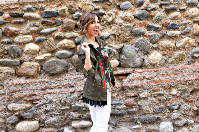 Fitness And Chicness-Pinko Military Feather Jacket Aracne-6
