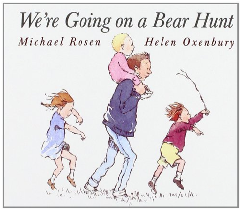 http://www.amazon.com/Were-Going-Classic-Board-Books/dp/0689815816/ref=sr_1_1?ie=UTF8&qid=1426465053&sr=8-1&keywords=going+on+a+bear+hunt