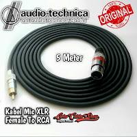 Kabel Mic XLR Female To RCA 5 Meter Kabel Audio Technica