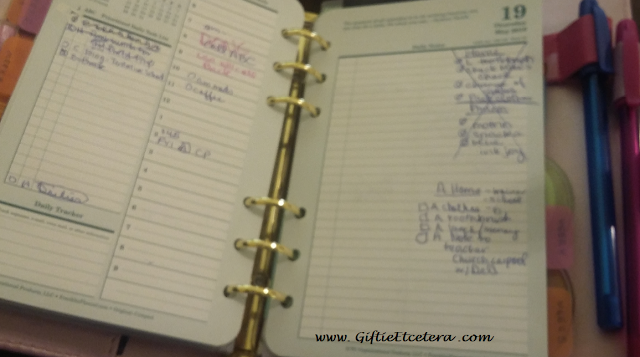 planner, franklin planner, day on two pages