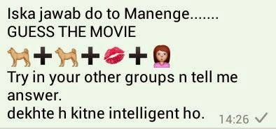 Guess the Movie try in your other groups