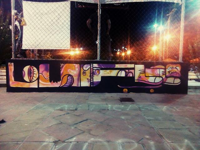 Pintura Mural Arte skate park Tarija