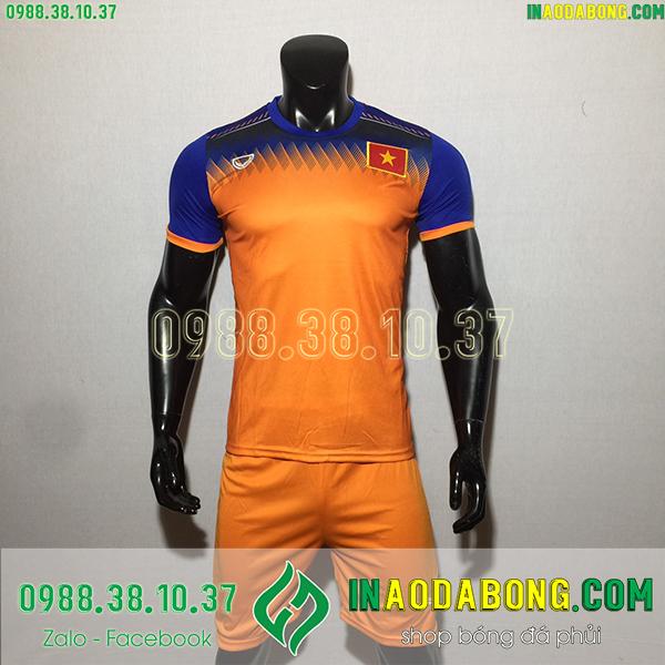 Áo bóng đá đội tuyển Việt Nam training màu cam