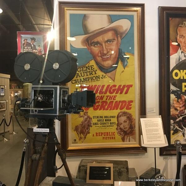 Gene Autry memorabilia displayed at Museum of Western Film History in Lone Pine, California