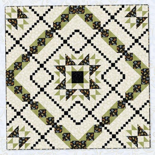Star Crossed Paths Quilt Free Pattern designed by Carolyn Beam of Benartex