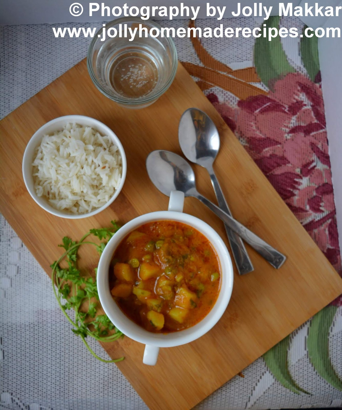 dhaba style aloo matar recipe