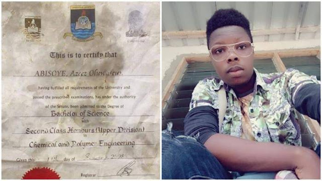 Nigerians React After IG User Shared Lasu Certificate Used to Wrap the Suya He Bought + Photos