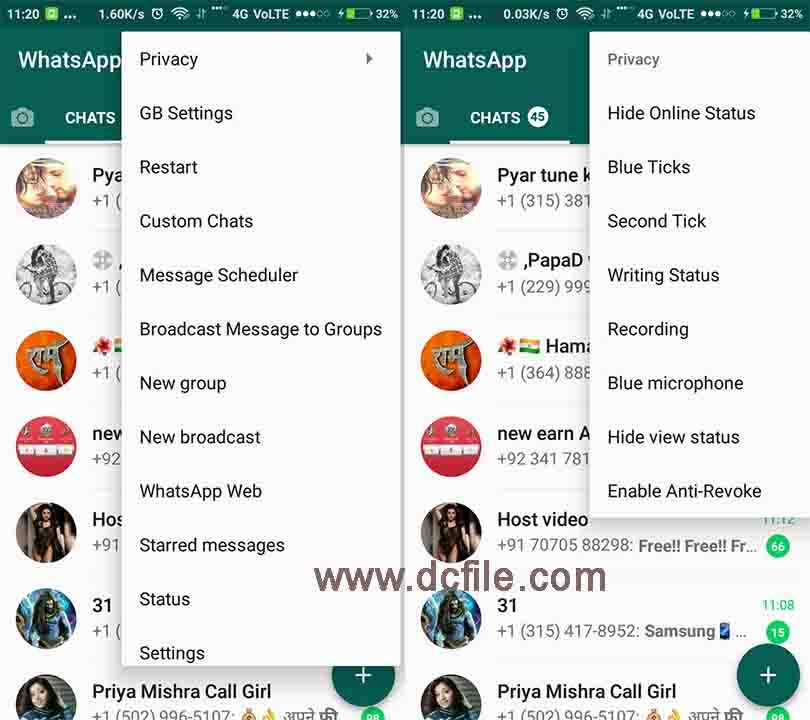 download whatsapp plus v6.55 for android latest version 2018 apk blue