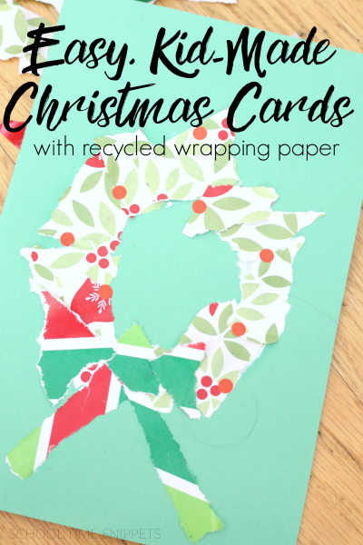 christmas cards kids for kids to make
