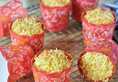 Resep Cheese Custard Muffin Almond Slice