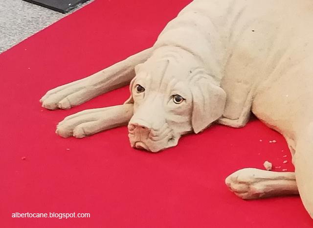 scultura di cane