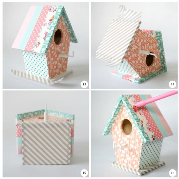 La llave de la casa del pájaro engancha los pasos 13 a 16