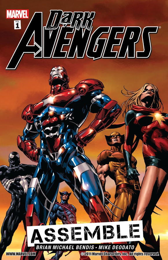 dark avengers assemble marvel comics cover brian michael bendis mike deodato jr.