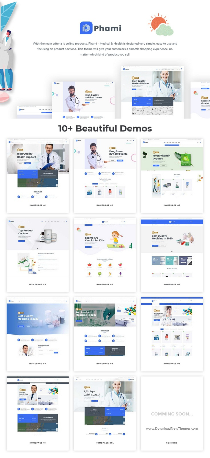 Medical & Health Stores Prestashop Theme