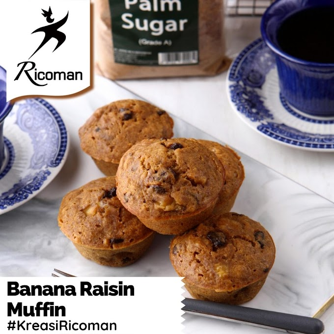[RESEP] Banana Raisin Muffin