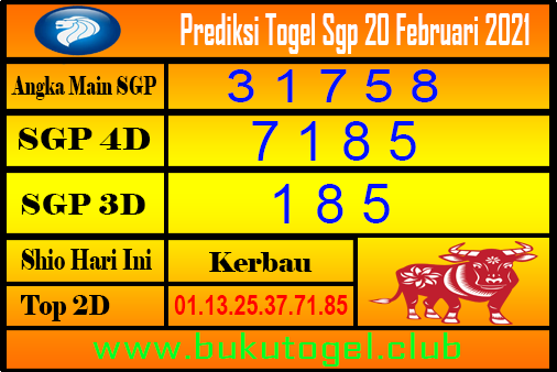 Perkiraan Sgp untuk 20 Februari 2021