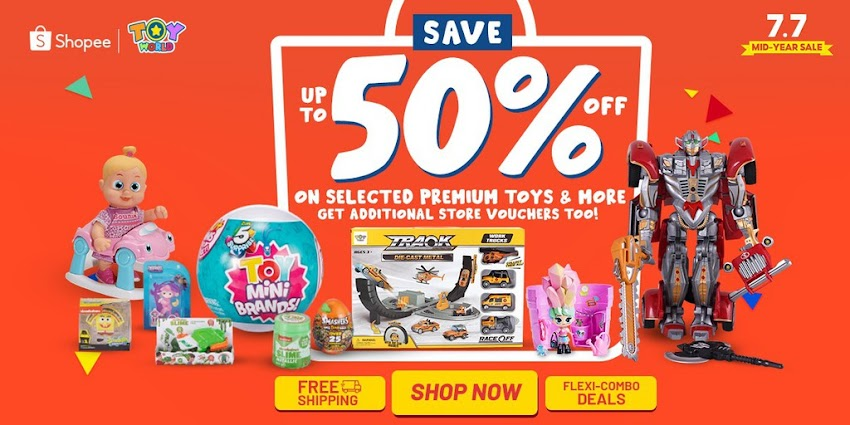 Toy World Philippines Gift Suggestions for Your Inaanaks This Shopee 7.7 Mid-year Sale