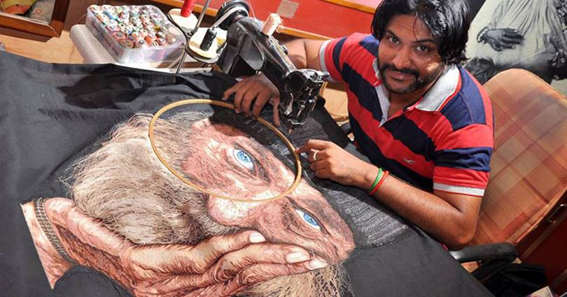 Embroidery Art Work With Sewing Machine