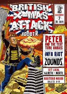 Concierto PETER and The Test Tube Babies, INFA RIOT & ZOUNDS