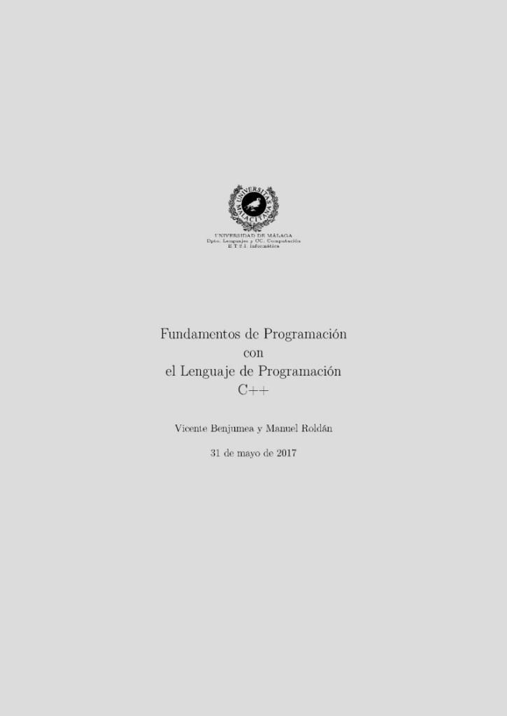 Fundamentos de programación con el lenguaje de programación C++