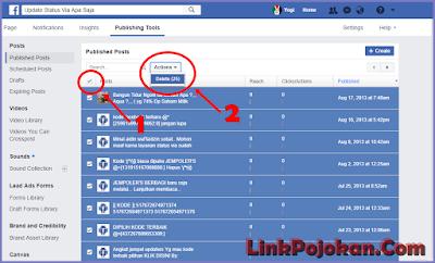 Cara Cepat Menghapus Seluruh Kiriman Fanspage Facebook Sekaligus, hapus kiriman halaman fb cepat