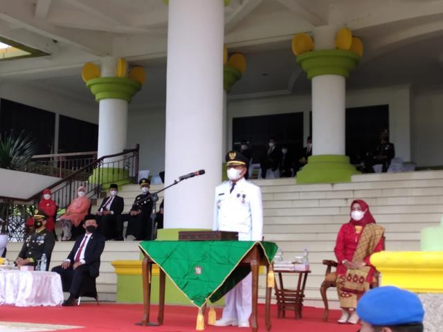 Dandim 0208/Asahan Laksanakan Upacara Penaikan Bendera Merah Putih Dalam Rangka Peringati HUT RI Ke-76
