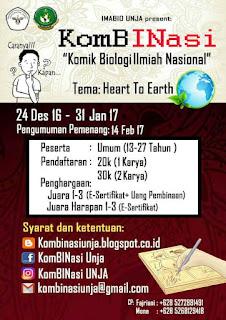 Lomba Komik Biologi Ilmiah Nasional (KomBINasi) 2017