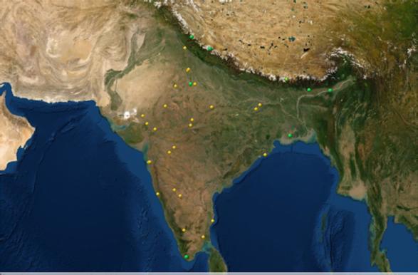 UNESCO world heritage sites in India map