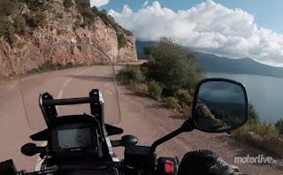 Prise de vue sur la moto