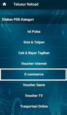Cara Pakai Telusur Reload untuk Bayar Belanja Online (TOkopedia, Bukalapak, Shopee, Lazada)