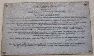 'The America Ground' plaque on Robertson Passage in Hastings