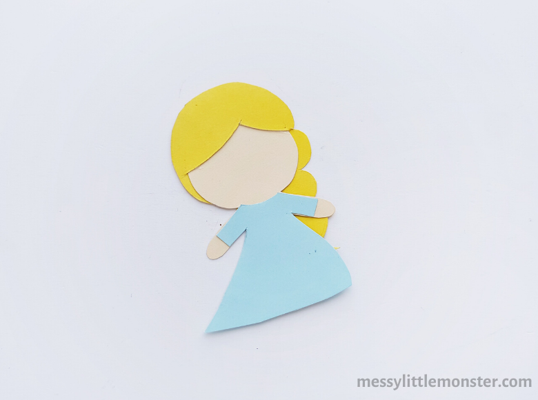 Frozen inspired Elsa craft for kids