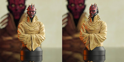 San Diego Comic-Con 2021 Exclusive Star Wars Darth Maul Concept Mini Bust by Gentle Giant