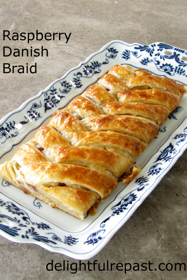 Raspberry Danish Braid / www.delightfulrepast.com
