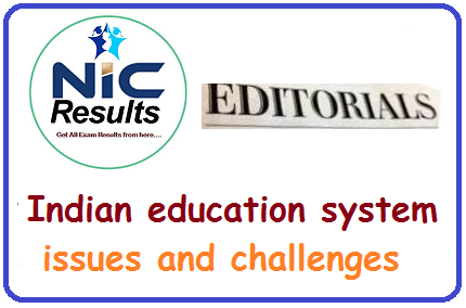 Indian education system issues and challenges