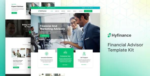 Best Financial Advisor Elementor Template Kit
