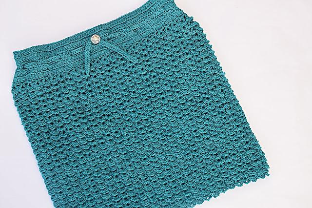2 - Crochet Imagen Falda verde a crochet y ganchillo sencilla facil DIY por Majovel Crochet